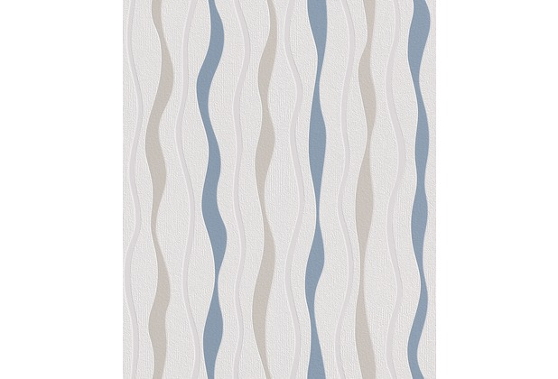 Rasch Vliestapete, 415414, weiß, blau