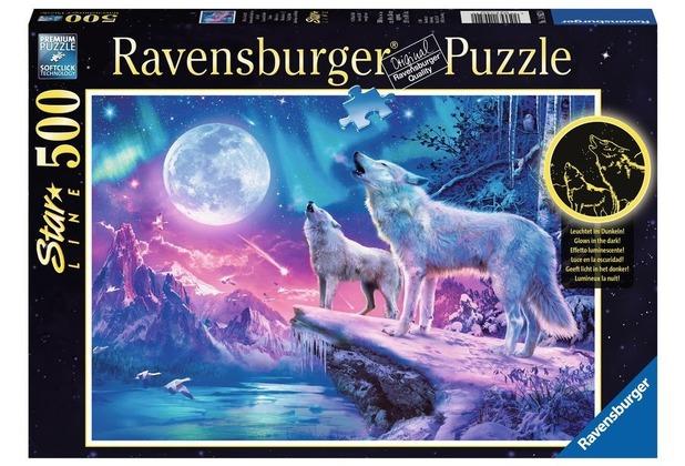 Ravensburger Star Line – Leuchtpuzzle - Wolf im Nordlicht