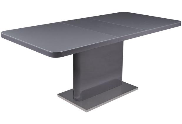 Reality Import Esstisch Douglas, HG grau Platte mit Grauglas, Boden