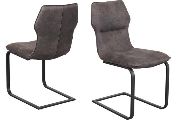 Reality Import Schwingstuhl Titan 3 Bezug Vintage grau Gestell Flachstahl schwarz