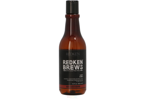 Redken Brews 3 In 1 Shampoo Conditioner Body Wash - 300 ml
