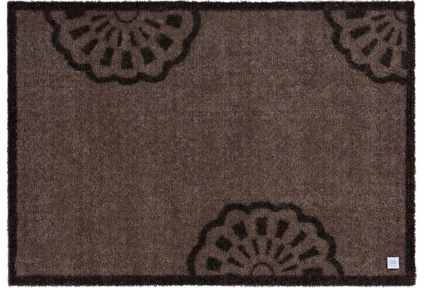 Barbara Becker Fußmatte BB Lace sandy brown 39 x 58 cm