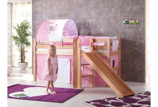 relita 1er Tunnel zu Hoch- und Etagenbetten rosa/weiß Herz