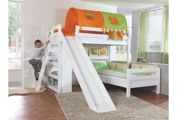 relita Etagenbett SKY 90x200 weiß lackiert weiß