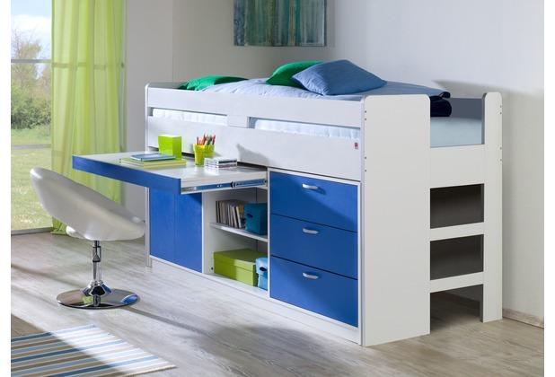 relita Funktionsbett BONNY KORPUS weiß Fronten blau (inkl. Rollrost und Fronten) weiß + blau