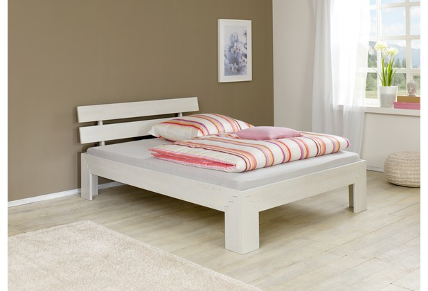 relita Futonbett JASMINA, Buche 180 (ohne Rollrost) white-wash