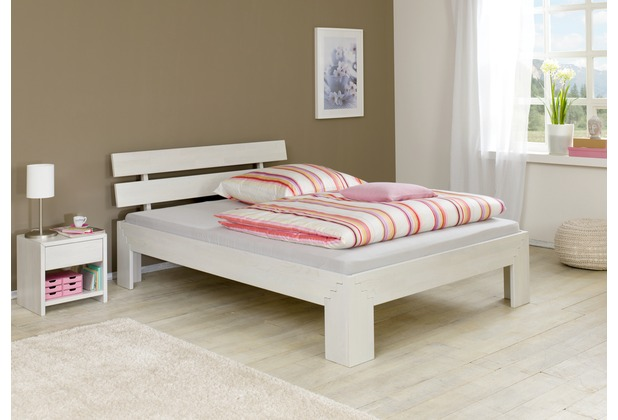 relita Futonbett JASMINA, Eiche, 140 (ohne Rollrost) white-wash