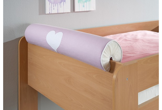 relita Nackenrolle/Kissen purple/weiß-Herz
