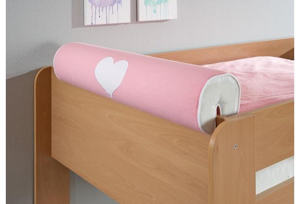 relita Nackenrolle/Kissen rosa/weiß-Herz