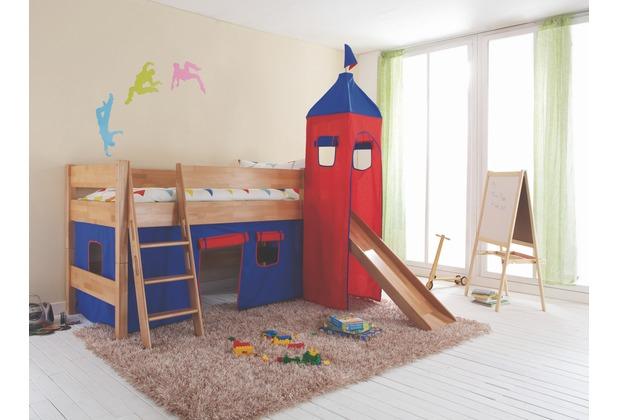 relita Stoffset mit Turm für Betten mit Rutsche blau/rot