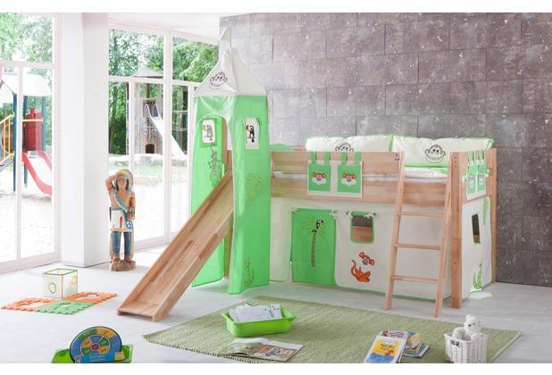relita Stoffset mit Turm für Betten mit Rutsche, Dschungel Dschungel