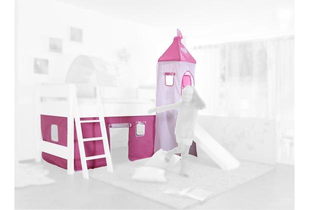relita Stoffset mit Turm für Betten mit Rutsche rosa/weiß-Herz