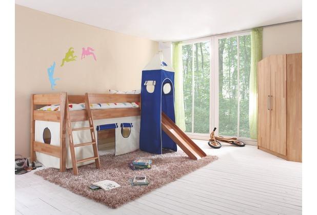 relita Stoffset mit Turm für Betten mit Rutsche weiß-Delphin
