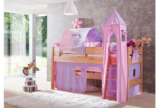 relita Stoffset ohne Turm für Halbhochbetten purple/rosa