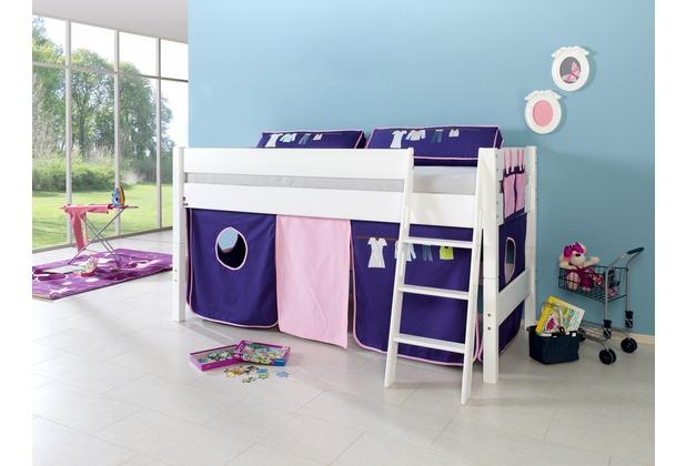 relita Stoffset ohne Turm für Halbhochbetten rosa/violett-Kleider