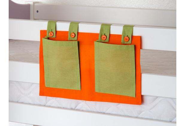 relita Stofftasche für Hoch- und Etagenbetten grün/orange
