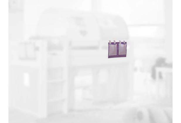relita Stofftasche für Hoch- und Etagenbetten purple/weiß
