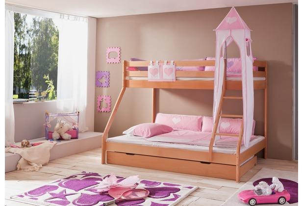 relita Stofftasche für Hoch- und Etagenbetten rosa/weiß
