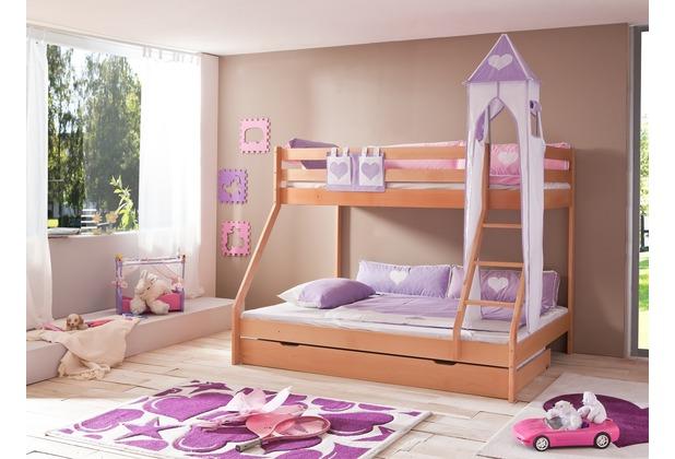 relita Turm-Set groß purple/weiß-Herz