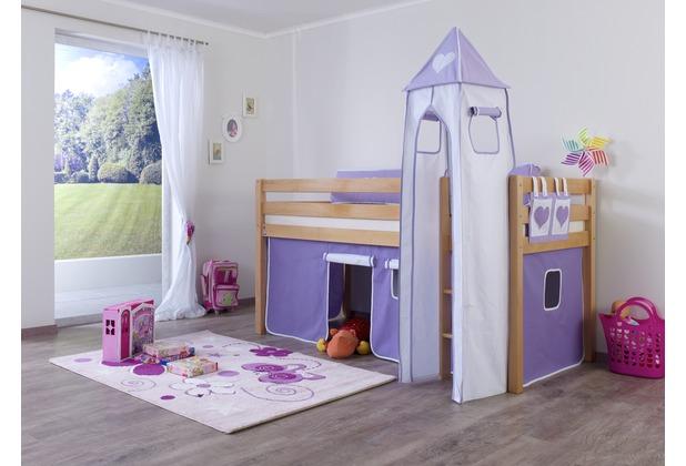 relita Turm-Set klein purple/weiß-Herz