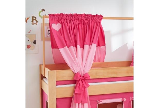 relita Zeltstoffset für Spielbett LEO pink/Herz