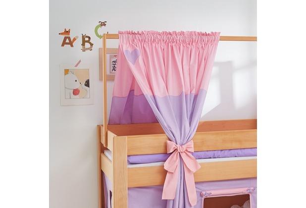 relita Zeltstoffset für Spielbett LEO purple/rosa-Herz
