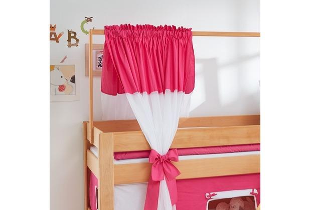 relita Zeltstoffset für Spielbett LEO pink/weiß-Sonne