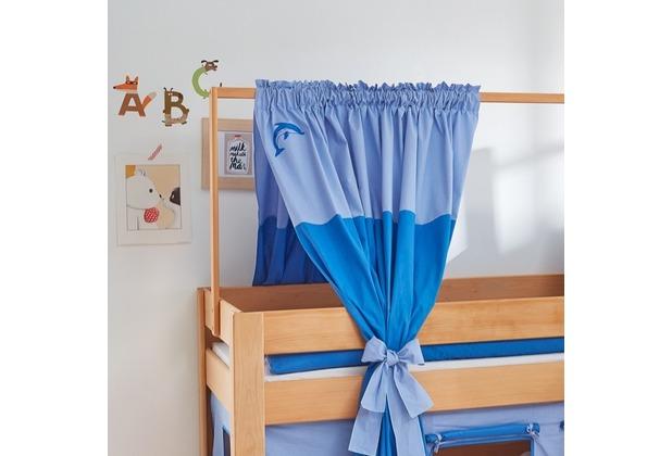 relita Zeltstoffset für Spielbett LEO blau/Delphin