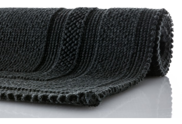 RHOMTUFT Badteppich GALA schwarz 70 cm x 120 cm