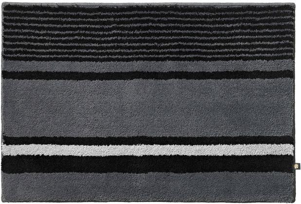 RHOMTUFT Badteppich MARITIM zink/schwarz/edelstahl Wunschmaß