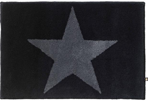 RHOMTUFT Badteppich STAR schwarz/graphit Wunschmaß