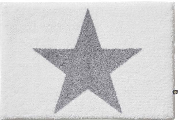 RHOMTUFT Badteppich STAR weiss/edelstahl Wunschmaß