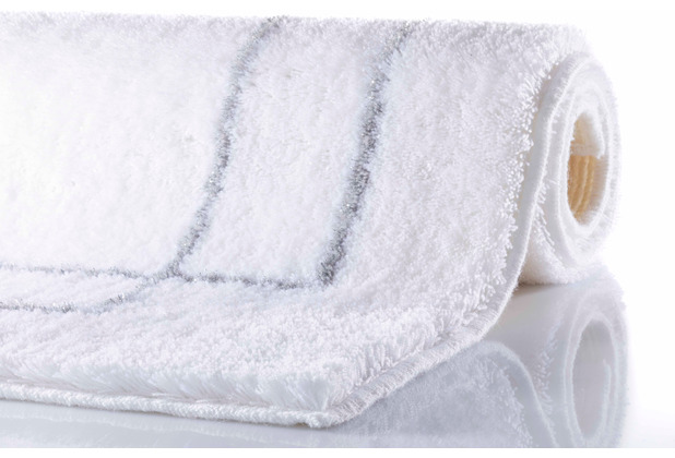 RHOMYhome Badteppich CLASSIC weiß/silber 50x60 cm