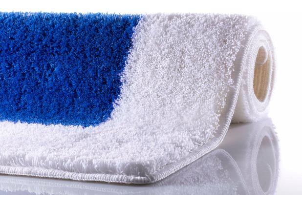 RHOMYhome Badteppich LIBERTY weiß/blau 50x60 cm