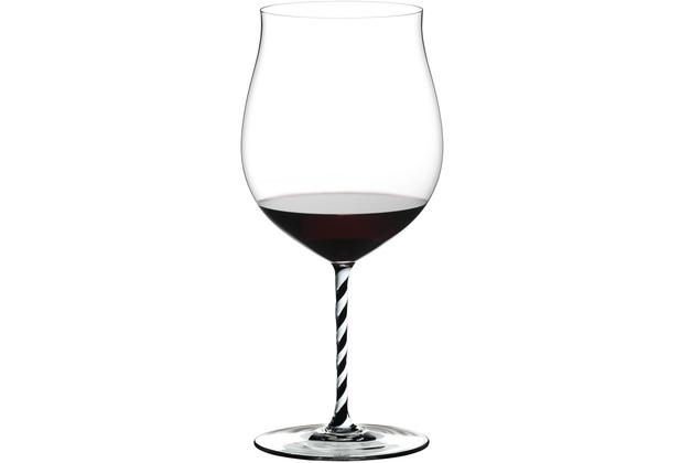 Riedel Fatto A Mano schwarz/weiß gedrehtes Burgundy Grand Cru Glas