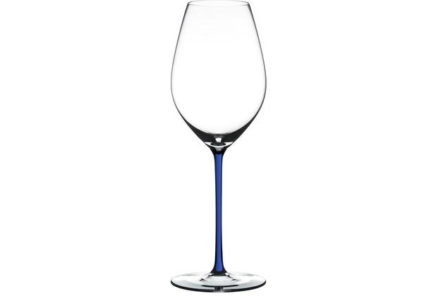 Riedel Fatto A Mano Champagne Wine Glass mit dunkelblauem Stiel