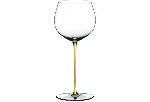 Riedel Fatto A Mano Oaked Chardonnay mit gelbem Stiel