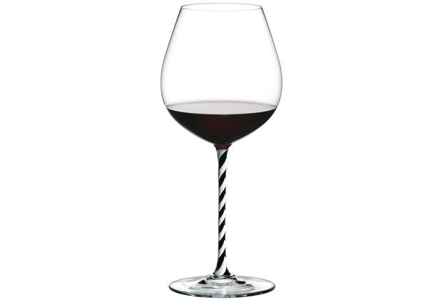 Riedel Fatto A Mano schwarz/weiß gedrehtes Old World Pinot Noir Glas