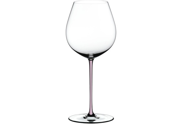 Riedel Fatto A Mano Old World Pinot Noir Glas mit pinkem Stiel