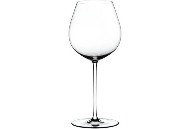 Riedel Fatto A Mano Old World Pinot Noir Glas mit weißem Stiel