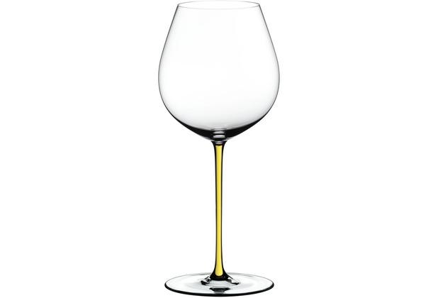 Riedel Fatto A Mano Old World Pinot Noir mit gelbem Stiel
