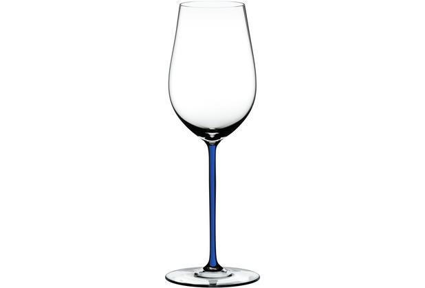Riedel Fatto A Mano Riesling/Zinfandel Glas mit dunkelblauem Stiel