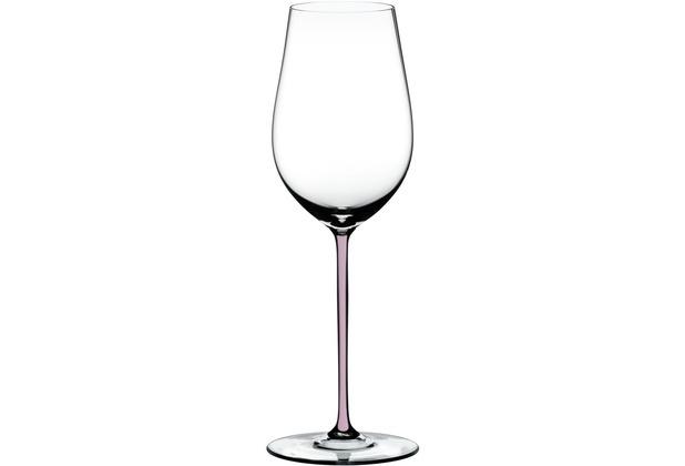Riedel Fatto A Mano Riesling/Zinfandel Glas mit pinkem Stiel