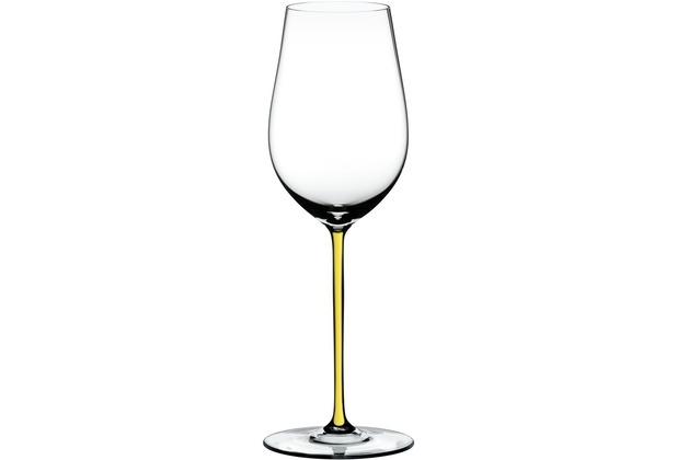 Riedel Fatto A Mano Riesling/Zinfandel Glas mit gelbem Stiel