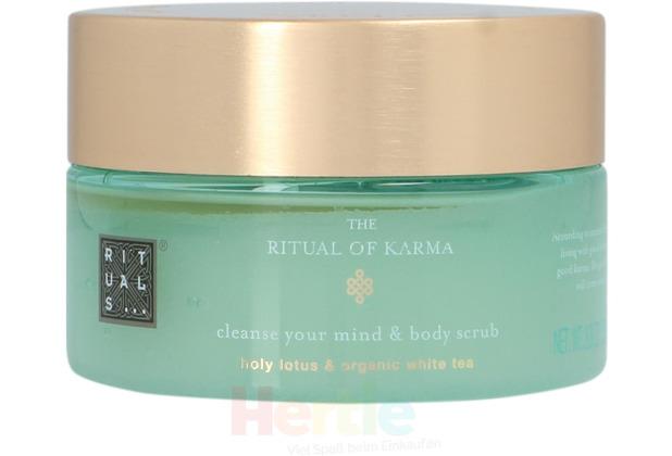 Rituals Karma Cleanse Your Mind & Body Scrub Holy Lotus & Organic White Tea, Körperpeeling 250 gr