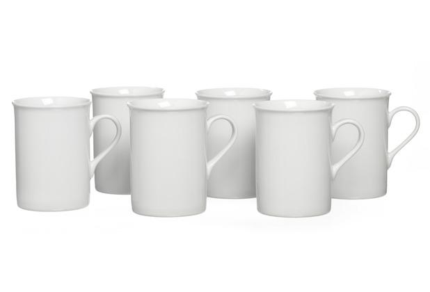Snap by R&B Kaffeebecher Porzellan 8x8x10cm Zylindrisch 300ml BIANCO weiß