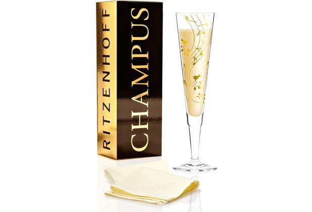 Ritzenhoff Champagnerglas von Sibylle Mayer Vögel, Musik 200 ml