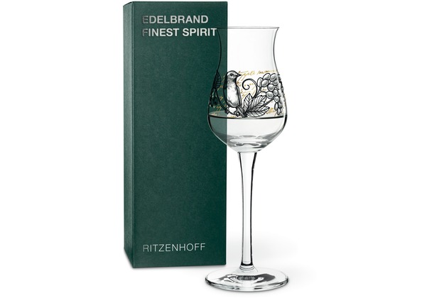 Ritzenhoff Edelbrandglas von Dorothee Kupitz Vogel, Obst, Schrift 156 ml