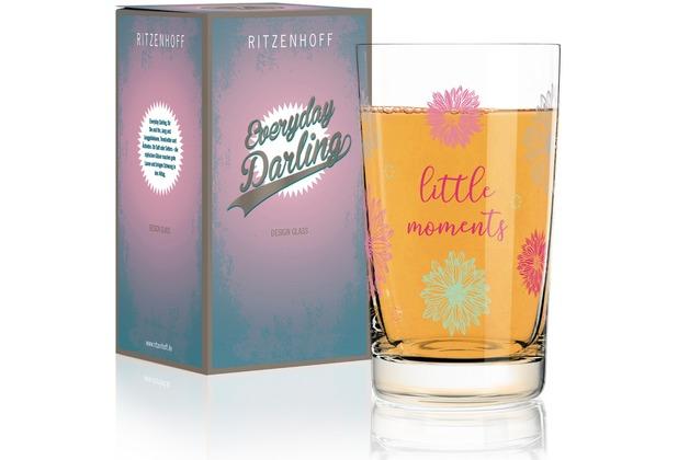 Ritzenhoff Softdrinkglas von Lenka Kühnertová Blumen, Schrift 300 ml