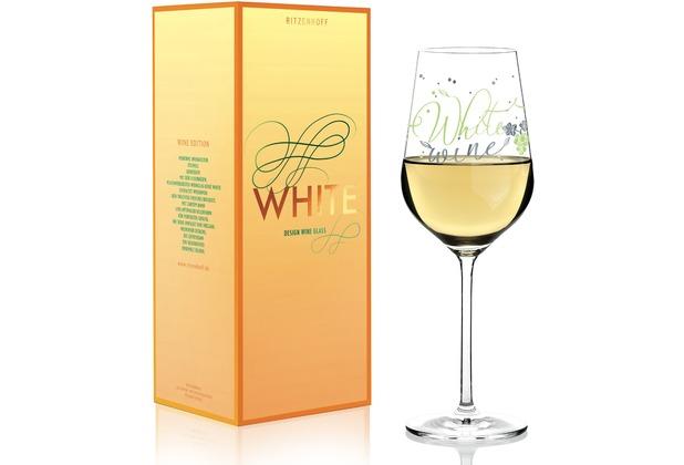 Ritzenhoff Weißweinglas von Kathrin Stockebrand Weinreben, Blätter, Schrift 360 ml